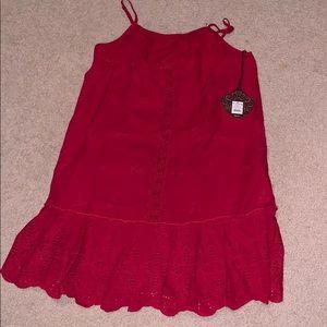 Knox Rose Red Eyelet Dress
